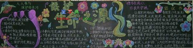 保护母亲河黑板报:生命之源