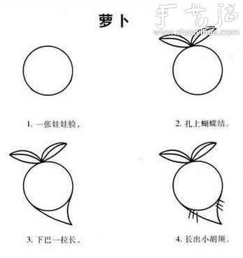 幼儿简笔画教程(中) -  www.shouyihuo.com