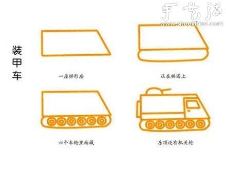 教孩子简笔画各种交通工具(下) -  www.shouyihuo.com
