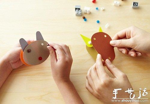 """LEGO bricks and paper""DIY玩具套件 -  www.shouyihuo.com"