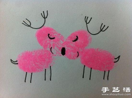 DIY超简单的儿童手指画 -  www.shouyihuo.com