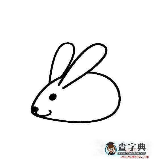 幼儿宝宝学画小兔子