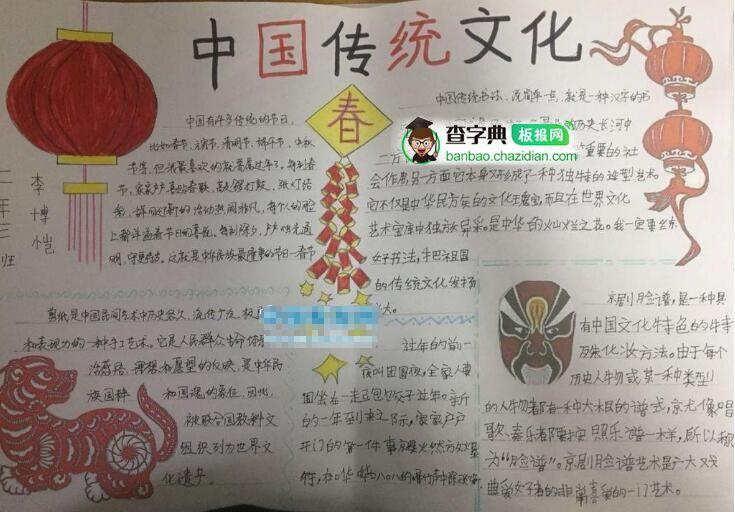 中国传统书法文化手抄报