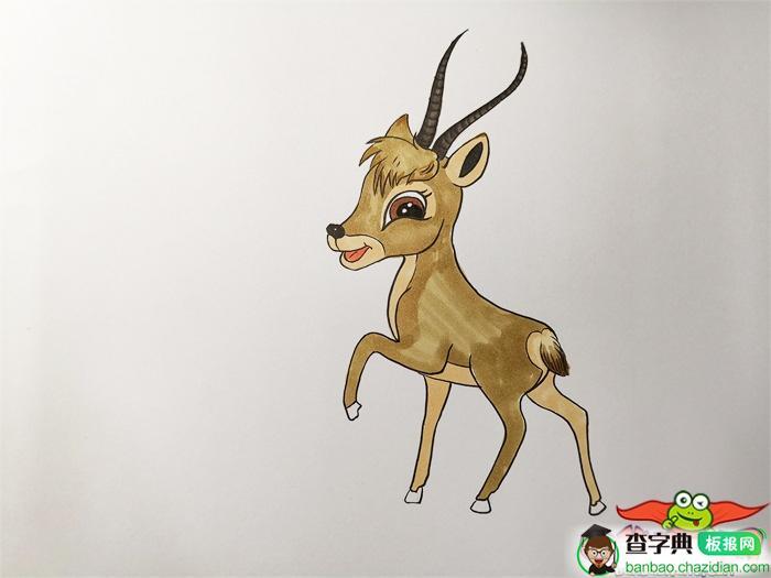 小藏羚羊怎么画简笔画,藏羚羊的简笔画可爱