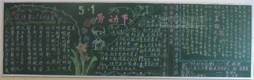 小学五一劳动节黑板报