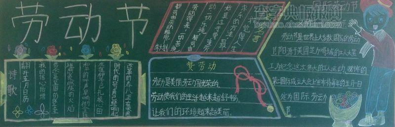 五一劳动节小学黑板报