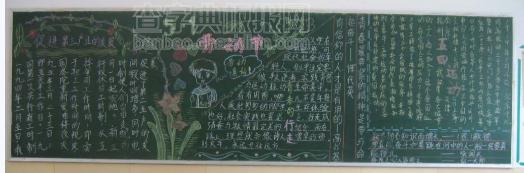 劳动节小学生黑板报