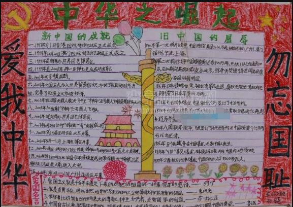中华之崛起 七七事变手抄报