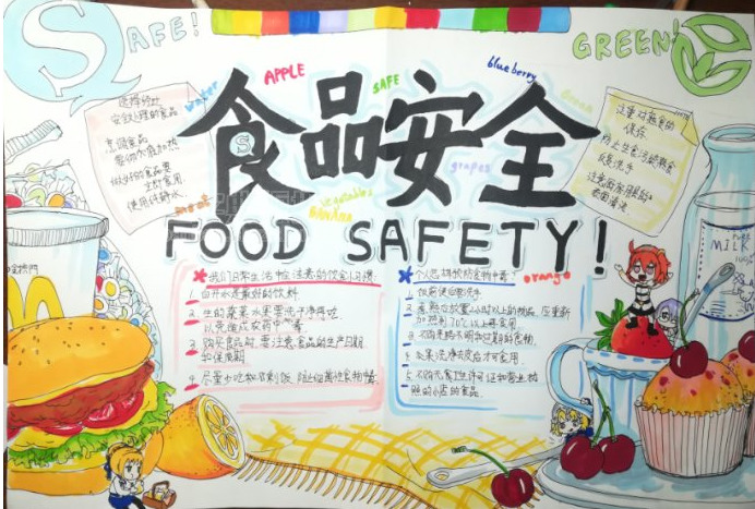 食品安全 手抄報