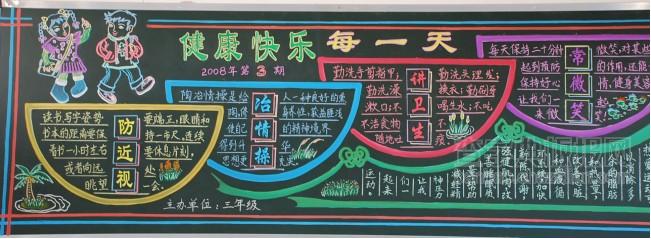 2019关于学校健康教育的黑板报