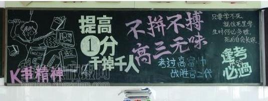 中高考励志黑板报