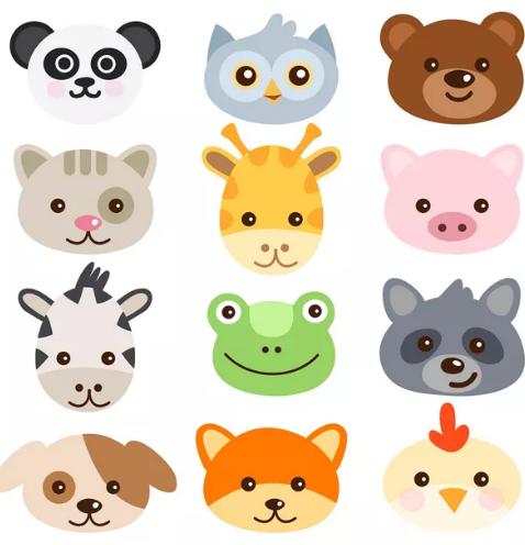 动物头像插画