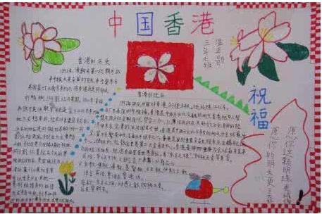 关于香港的手抄报
