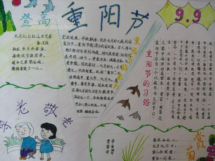 3年级重阳节手抄报
