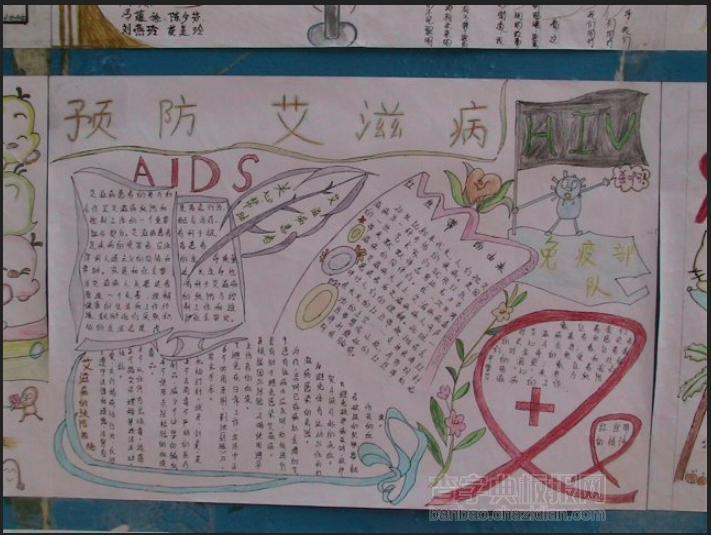预防艾滋手抄报