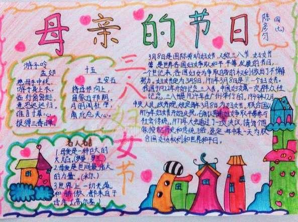 """""""三八""""妇女节小学生手抄报"""