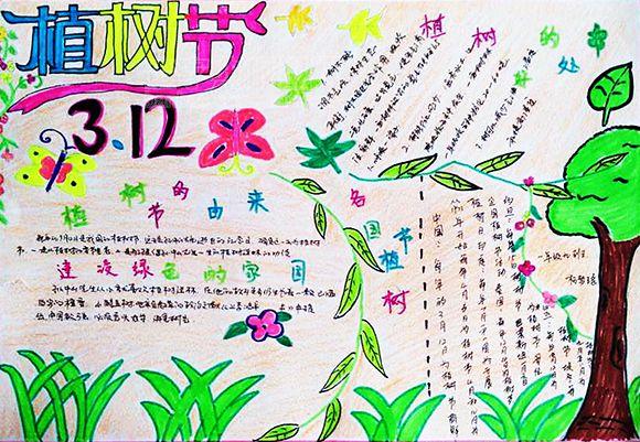 2020小学生植树节手抄报