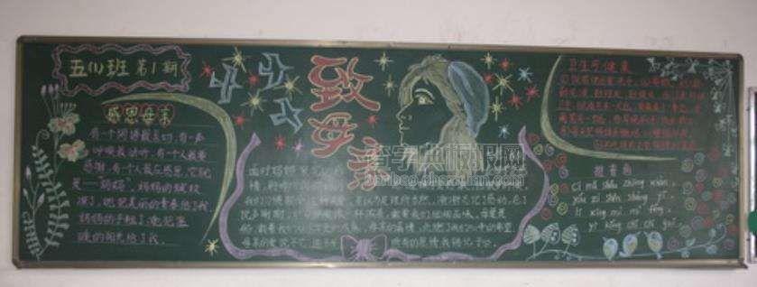 小学生妇女节黑板报